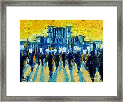 Urban Story - The Romanian Revolution Framed Print by Mona Edulesco