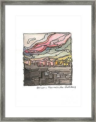 Urban Sunset Framed Print by Aruna Samivelu