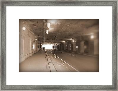 Urban Tunnel Framed Print by Valentino Visentini