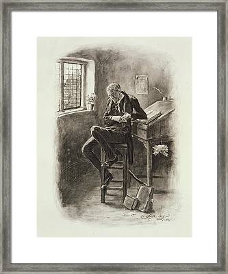 Uriah Heep, From Charles Dickens A Framed Print by Frederick Barnard