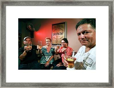 Urine Therapy Clinic Framed Print by Thierry Berrod, Mona Lisa Production