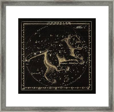 Ursa Major Constellation, 1829 Framed Print by Science Photo Library