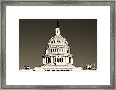 Us Capital Building Dome Framed Print by Dustin K Ryan