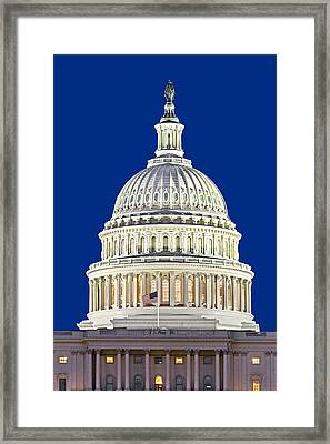Us Capitol Dome Framed Print by Susan Candelario