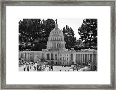 Us Capitol Framed Print by Ricky Barnard