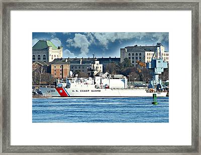 Us Coast Guard Framed Print by Barbara S Nickerson