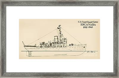 U. S. Coast Guard Cutter Escanaba Framed Print by Jerry McElroy - Public Domain Image