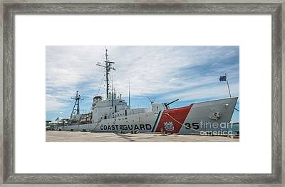 Us Coast Guard Cutter Ingham Whec-35 - Key West - Florida - Panoramic Framed Print by Ian Monk