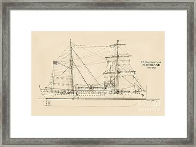 U. S. Coast Guard Cutter Northland Framed Print by Jerry McElroy - Public Domain Image