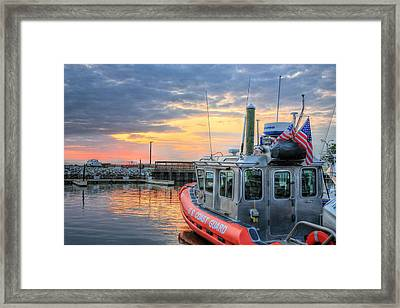 Us Coast Guard Defender Class Boat Framed Print by JC Findley