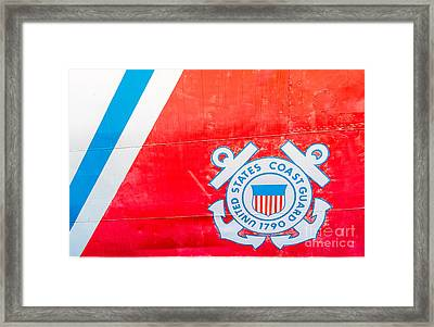 Us Coast Guard Emblem - Uscgc Ingham Whec-35 - Key West - Florida Framed Print by Ian Monk