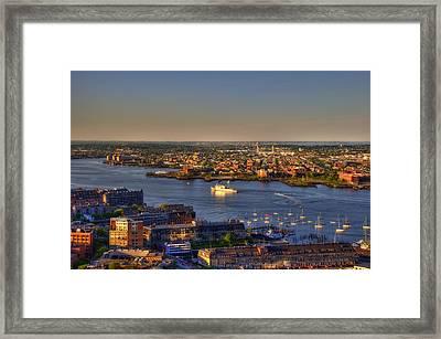 Us Coast Guard On Boston Harbor 2 Framed Print by Joann Vitali