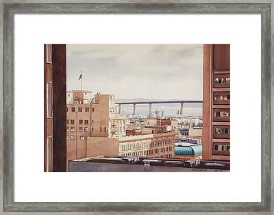 Us Grant Hotel In San Diego Framed Print by Mary Helmreich