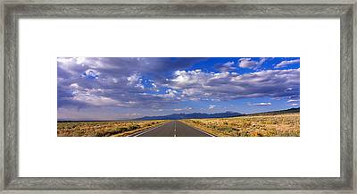 Us Highway 160 Through Great Sand Dunes Framed Print by Panoramic Images