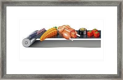 Us Inflation Index Framed Print by Smetek
