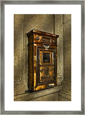 Us Mail Letter Box Framed Print by Susan Candelario