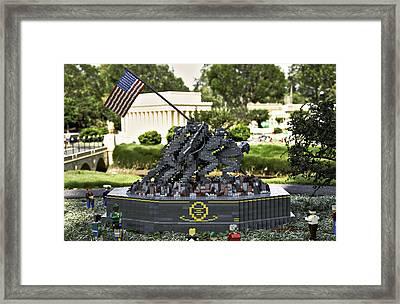 Us Marine Corps War Memorial Framed Print by Ricky Barnard