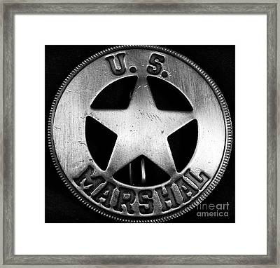 Us Marshal Framed Print by John Rizzuto
