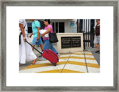 Us-mexico Border At Tijuana Framed Print by Jim West