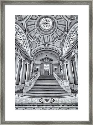 Us Naval Academy Bancroft Hall II Framed Print by Clarence Holmes