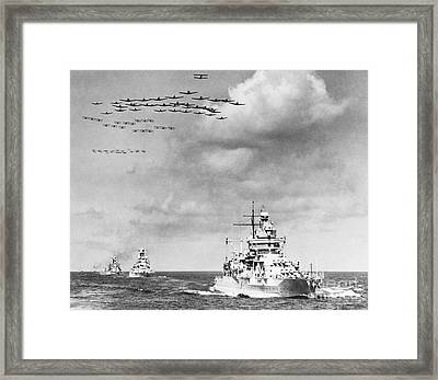 Us Navy And Aeroplanes, World War II Framed Print by Library Of Congress