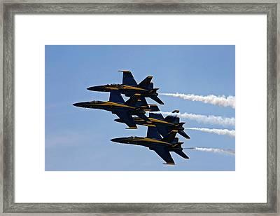Us Navy Blue Angels Aerobatics Display Framed Print by Jim West
