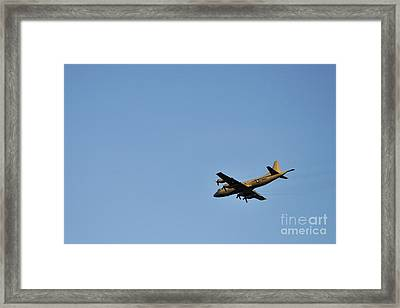 Us Navy Military Airplane Framed Print by Sami Sarkis