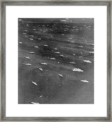 U.s. Navy Wwii Task Force Framed Print by Underwood Archives