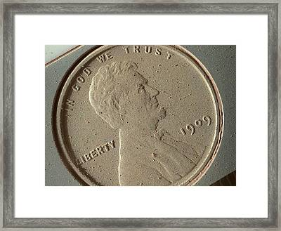 Us Penny Framed Print by Nasa