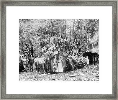 Us Rural Settlement Framed Print by Library Of Congress