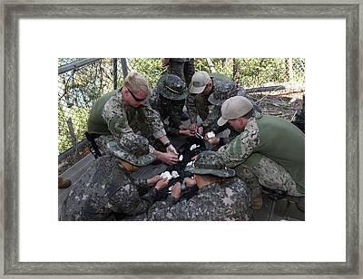 U.s. Sailors And Rok Navy Sailors Pack Framed Print by Stocktrek Images
