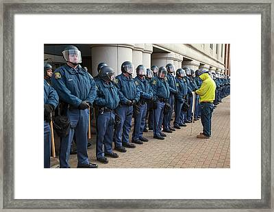 Us State Police Framed Print by Jim West