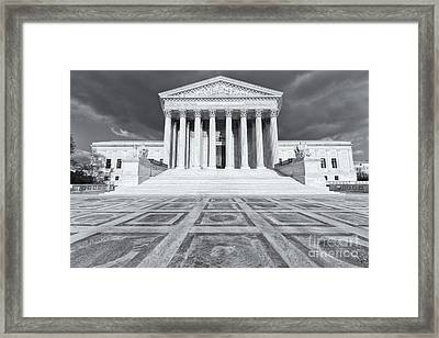 Us Supreme Court Building Ix Framed Print by Clarence Holmes