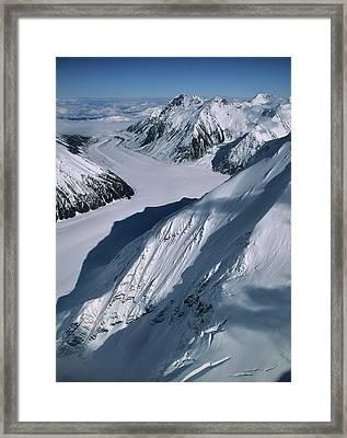 Usa, Alaska, Peters Glacier, Aerial Framed Print by Gerry Reynolds