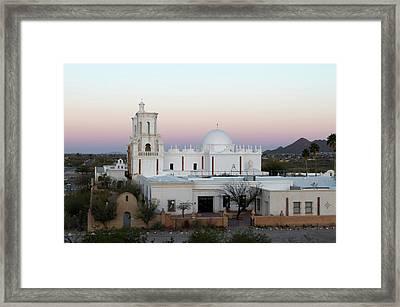Usa, Arizona Mission San Xavier Del Framed Print by Luc Novovitch