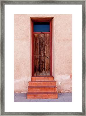 Usa, Arizona, Tucson, Barrio Vijo Door Framed Print by Peter Hawkins