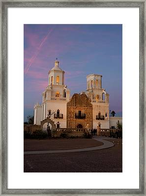 Usa, Arizona, Tucson, Mission San Framed Print by Peter Hawkins
