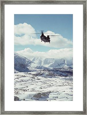 Usa, California, Chinook Search Framed Print by Gerry Reynolds