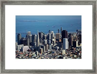 Usa, California, Downtown San Framed Print by David Wall