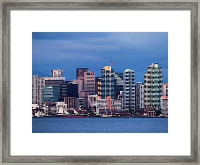 Usa, California, San Diego, City Framed Print by Ann Collins