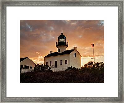 Usa, California, San Diego, Old Point Framed Print by Ann Collins