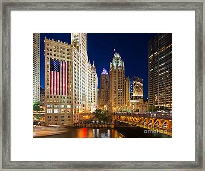 Usa - Chicago Framed Print by Jeff Lewis