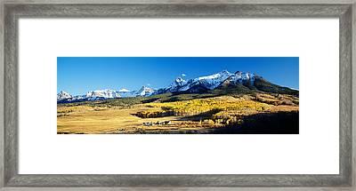 Usa, Colorado, Ridgeway, Last Dollar Framed Print by Panoramic Images