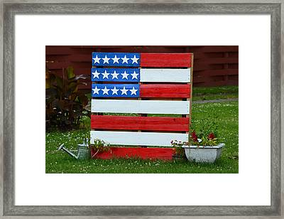 Usa Flag Framed Print by Kim Stafford