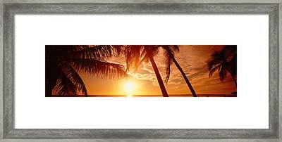 Usa, Florida, Fort Meyers, Sunset Framed Print by Panoramic Images