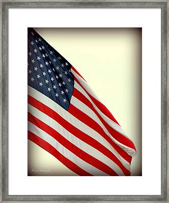 Usa Fly It Proud Framed Print by Debra Forand