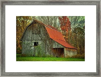 Usa, Indiana Rural Landscape Framed Print by Rona Schwarz
