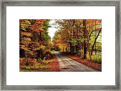 Usa, Maine, Bethel Framed Print by Bill Bachmann