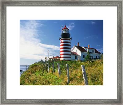 Usa, Maine, Lubec Framed Print by Jaynes Gallery