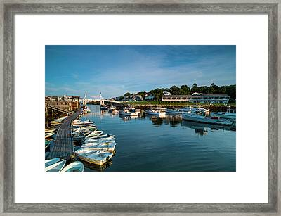 Usa, Maine, Ogunquit, Perkins Cove Framed Print by Walter Bibikow
